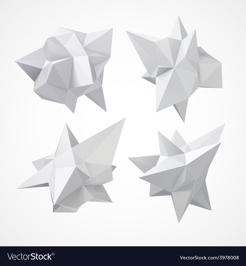 Low polygon geometry shape vector | Price: 3 Credit (USD $3)