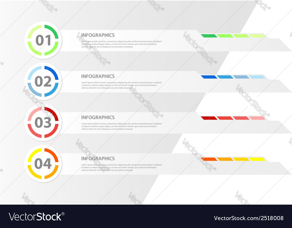 Modern design infographic template vector | Price: 1 Credit (USD $1)