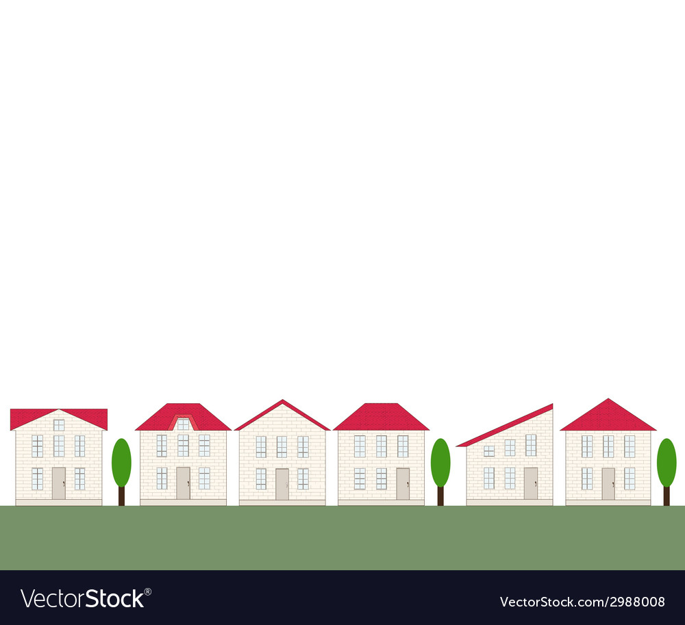 Seamless real estate border vector | Price: 1 Credit (USD $1)