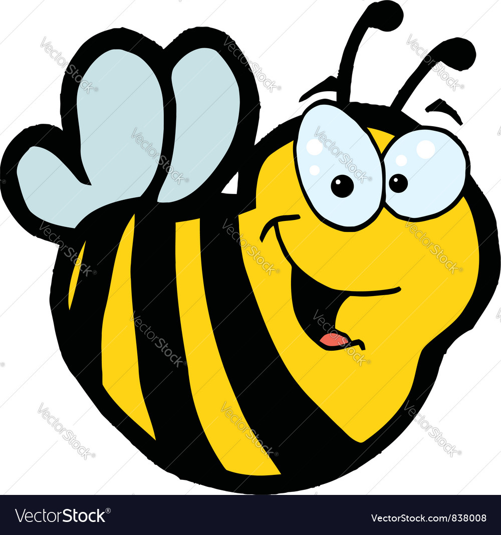 Smiling bee vector | Price: 1 Credit (USD $1)