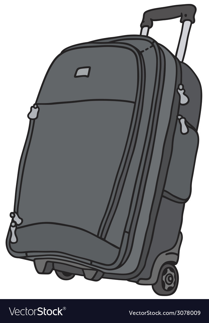 Baggage on wheels vector | Price: 1 Credit (USD $1)