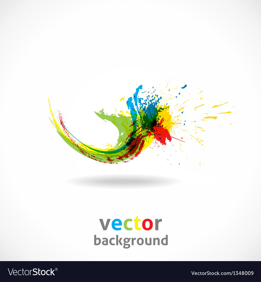 Color ink splash grunge background vector | Price: 1 Credit (USD $1)