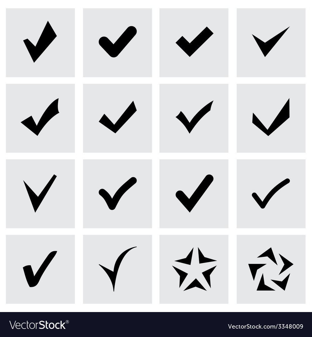 Confirm icon set vector | Price: 1 Credit (USD $1)
