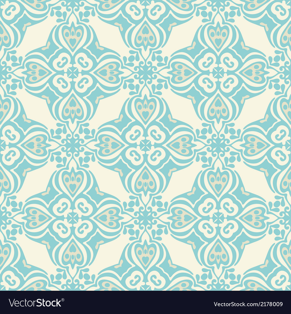 Damask seamless pattern luxury vector | Price: 1 Credit (USD $1)