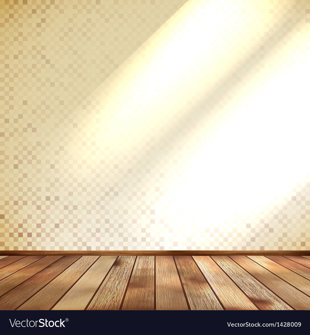 Empty beige wall and wooden floor room eps 10 vector | Price: 1 Credit (USD $1)