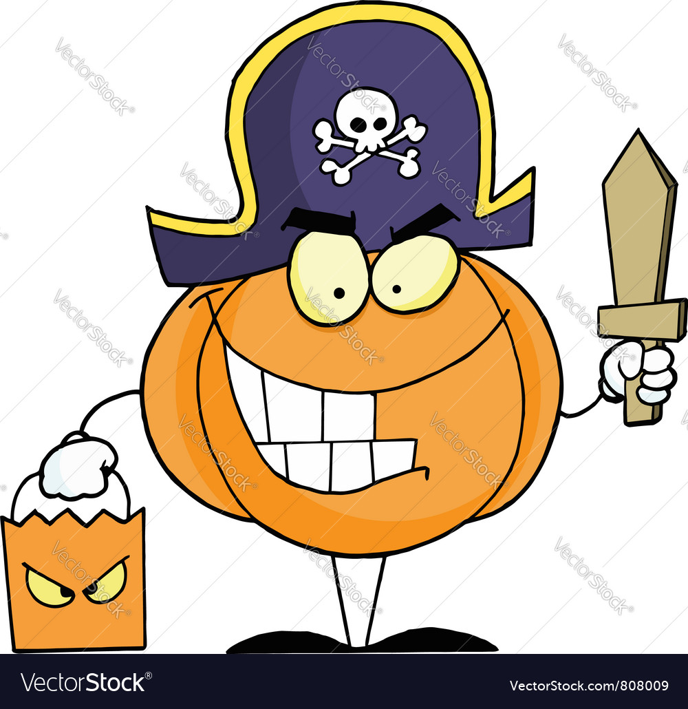 Halloween pumkin bag and sword vector | Price: 1 Credit (USD $1)