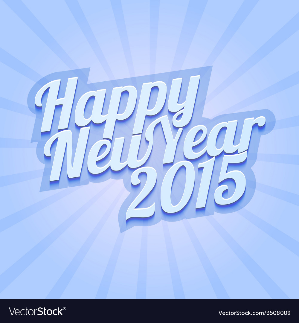 Happy new year 2015 on blue background vector   Price: 1 Credit (USD $1)