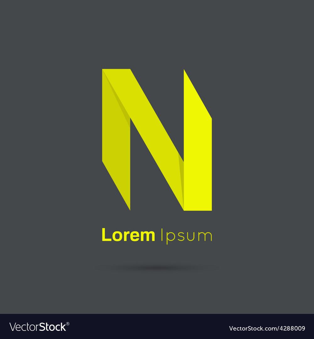 Letter n logo vector | Price: 1 Credit (USD $1)