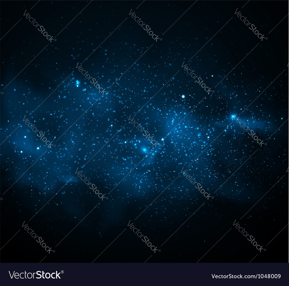Milky way vector