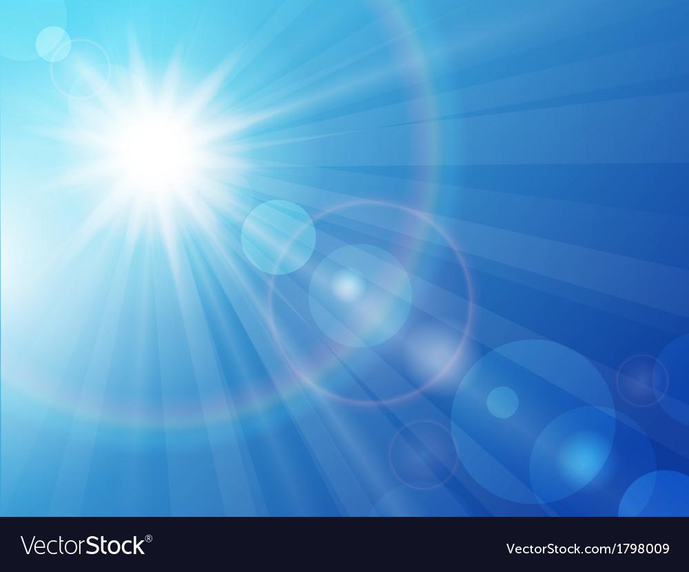 Sun on a blue sky vector | Price: 1 Credit (USD $1)