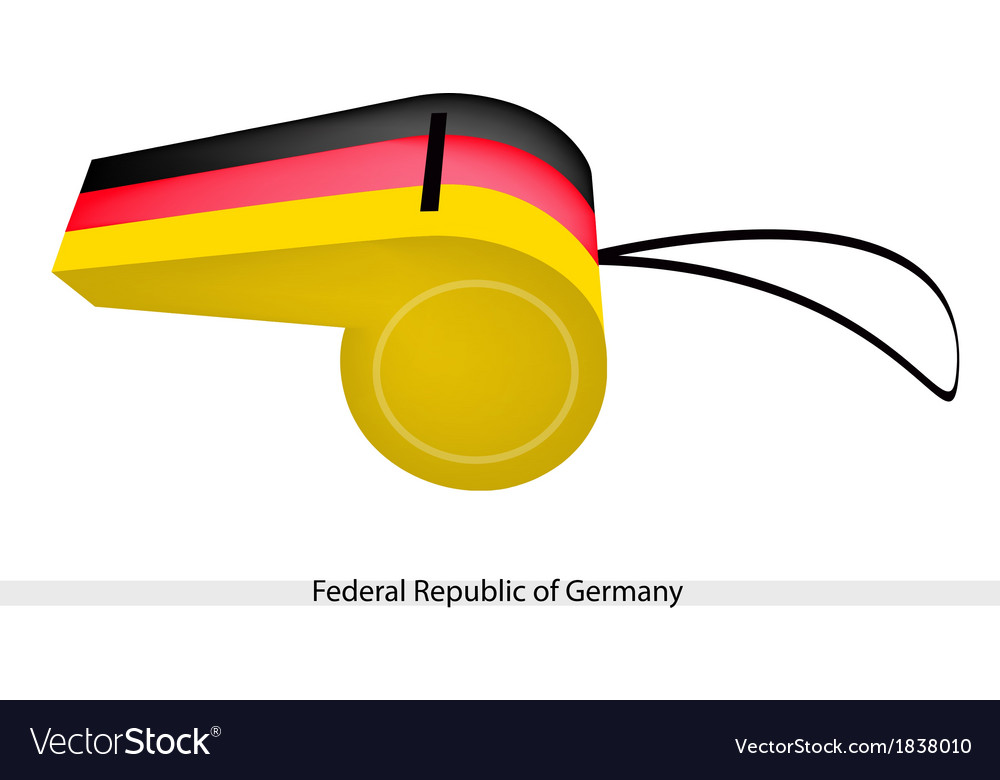 A whistle of federal republic of germany vector | Price: 1 Credit (USD $1)