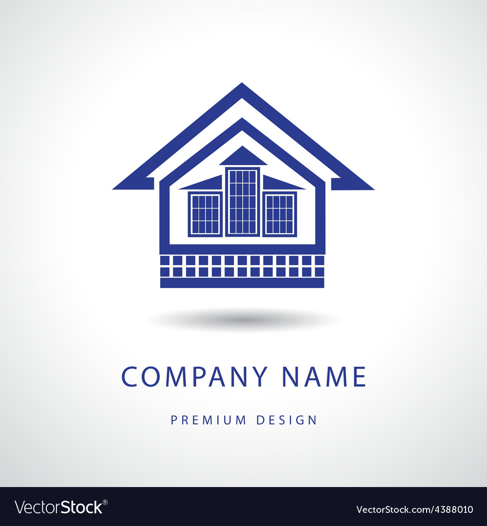 Abstract real estate logo design template vector | Price: 1 Credit (USD $1)