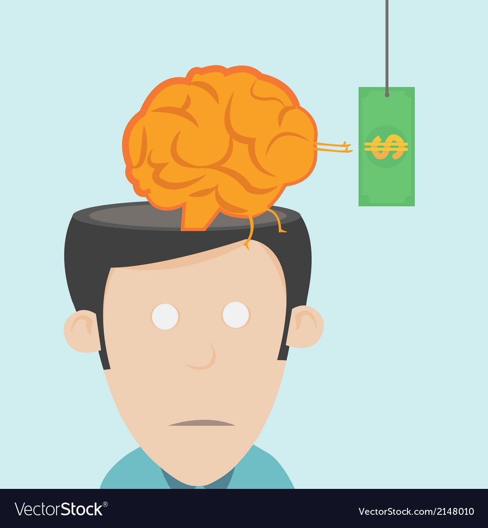 Brain drain the loss of talent vector | Price: 1 Credit (USD $1)