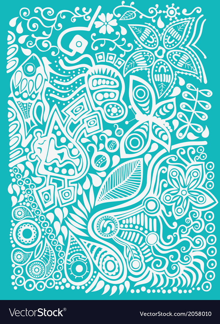Color doodle background vector | Price: 1 Credit (USD $1)