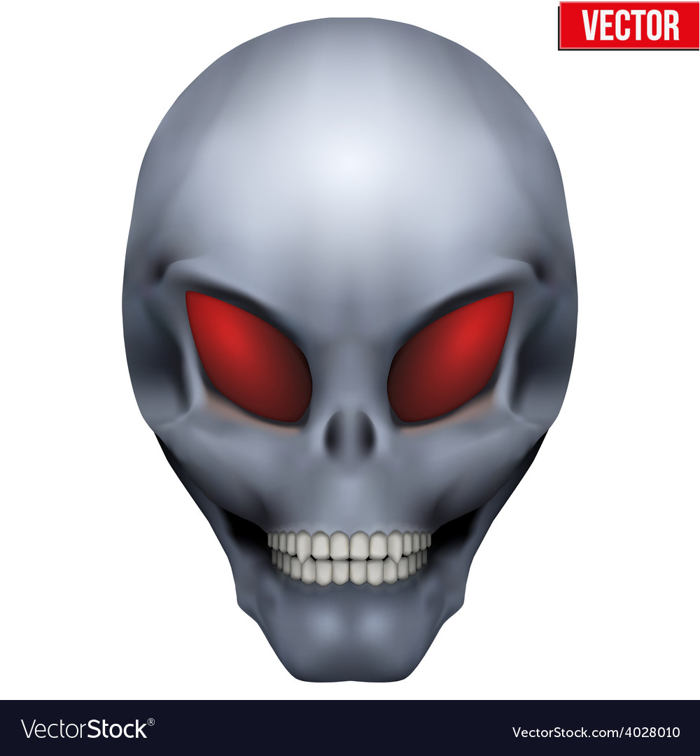 Creative humanoid alien skull vector   Price: 1 Credit (USD $1)