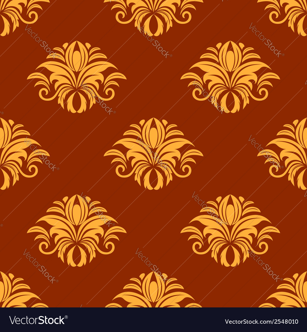 Dainty yellow colored floral seamless pattern vector | Price: 1 Credit (USD $1)