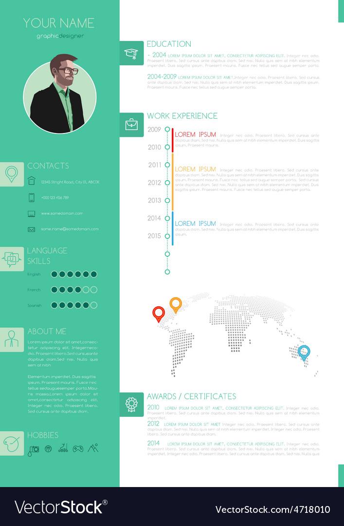Elegant minimalist style resume - cv vector | Price: 1 Credit (USD $1)