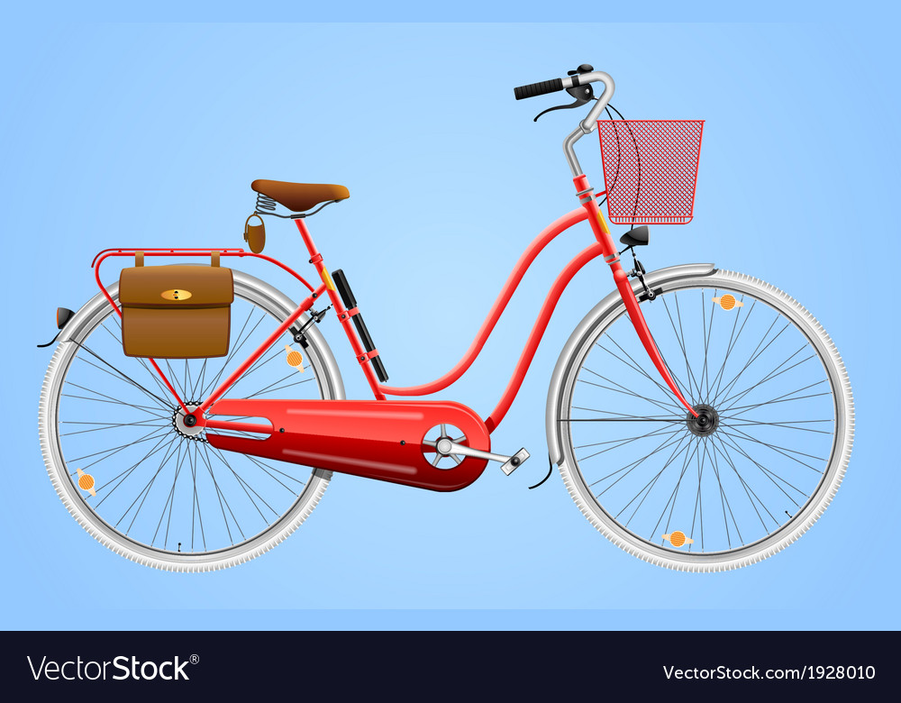 Ladies bicycle vector | Price: 1 Credit (USD $1)