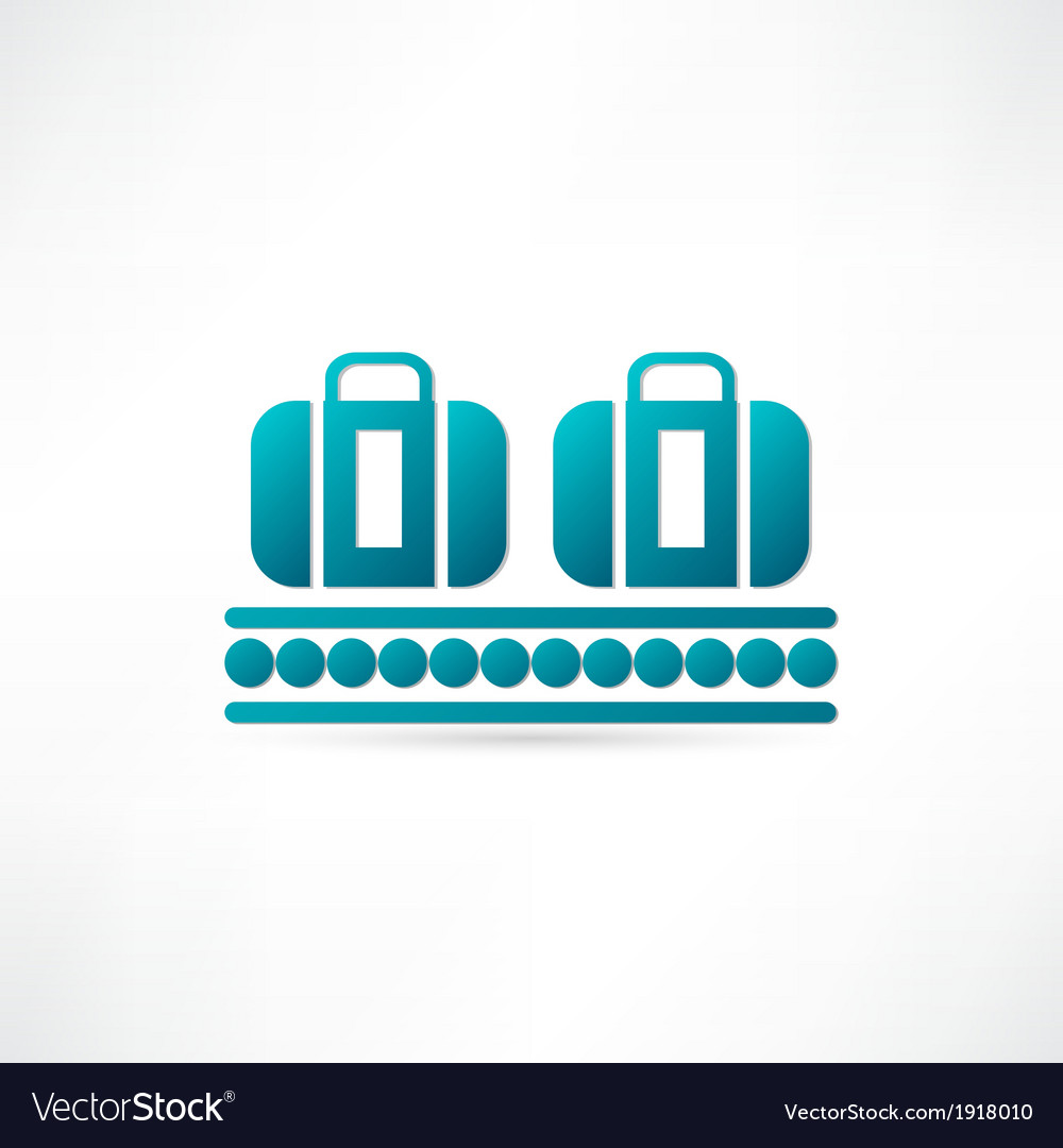 Luggage plane icon vector | Price: 1 Credit (USD $1)