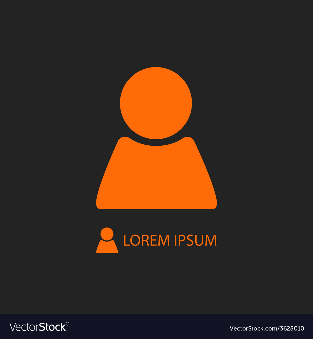 Orange person sign on black vector | Price: 1 Credit (USD $1)