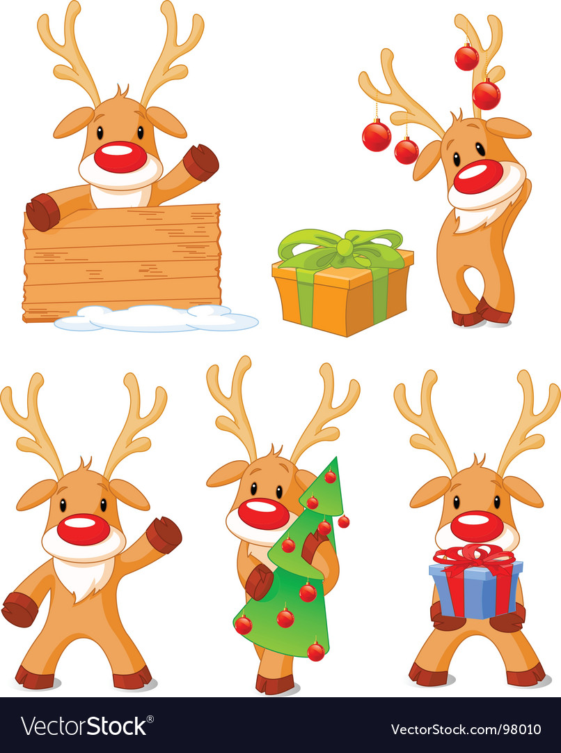 Reindeer rudolph vector | Price: 3 Credit (USD $3)