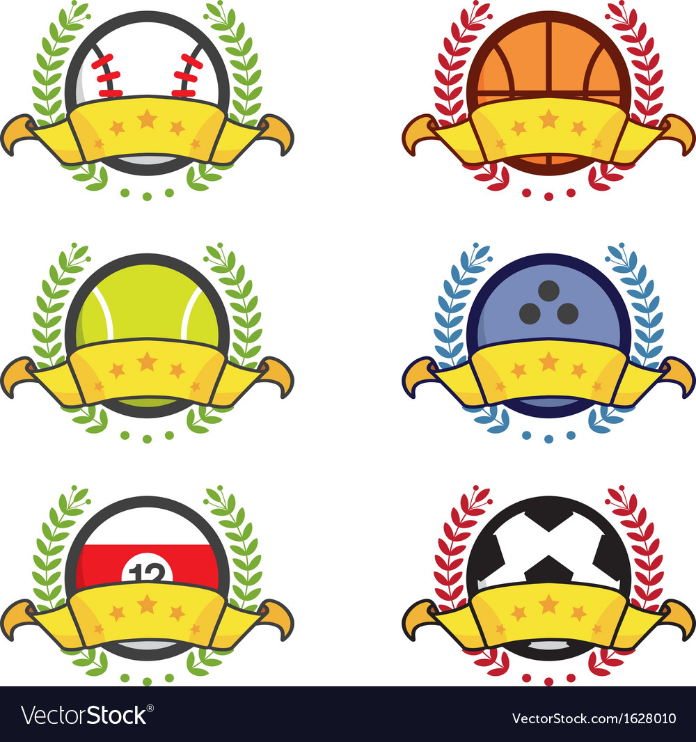 Sport icon winning badges vector | Price: 1 Credit (USD $1)