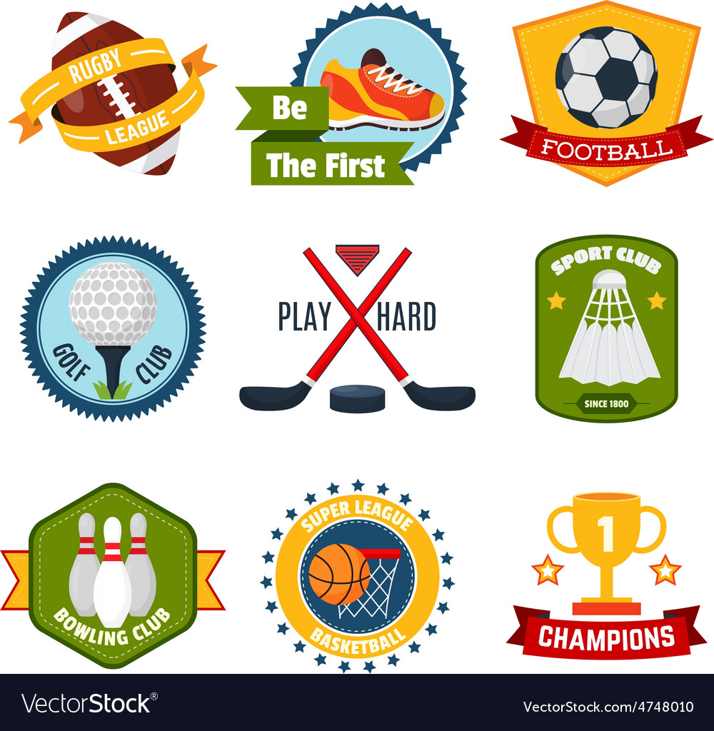 Sports logo set vector | Price: 1 Credit (USD $1)