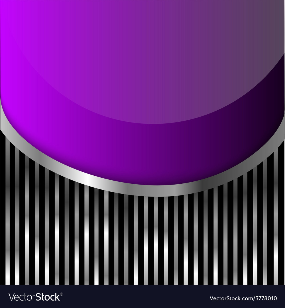 Violet glass on stripes background vector | Price: 1 Credit (USD $1)