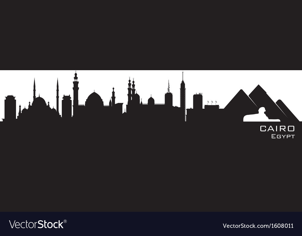 Cairo egypt skyline detailed silhouette vector | Price: 1 Credit (USD $1)