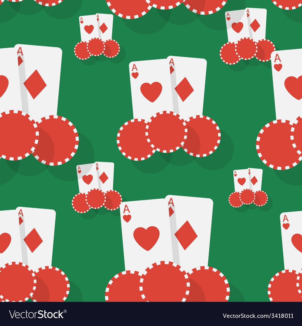 Casino poker seamless background vector | Price: 1 Credit (USD $1)