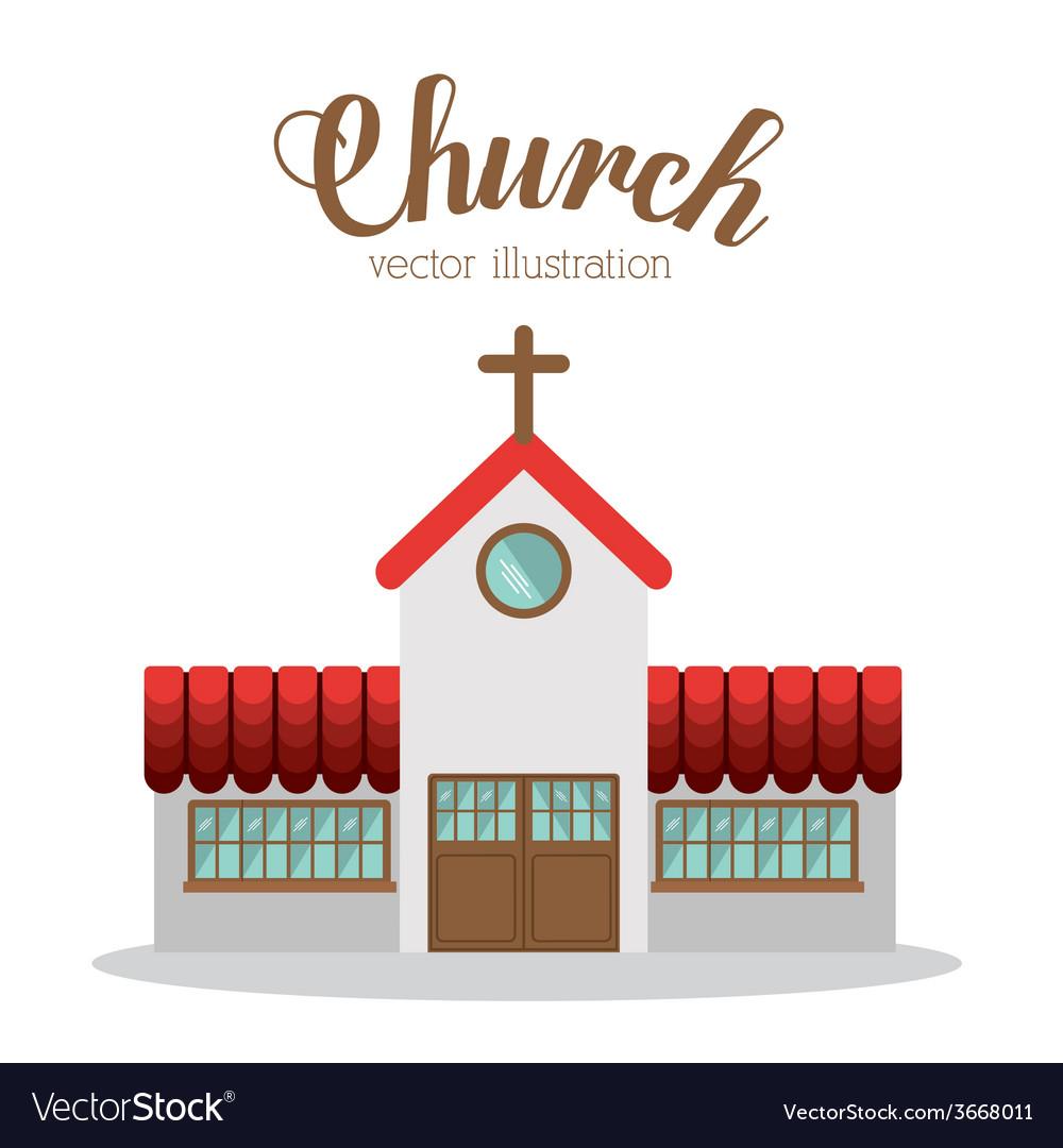 Church design vector | Price: 1 Credit (USD $1)