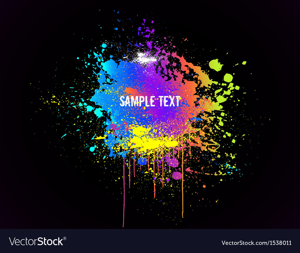 Color paint splashes background vector   Price: 1 Credit (USD $1)