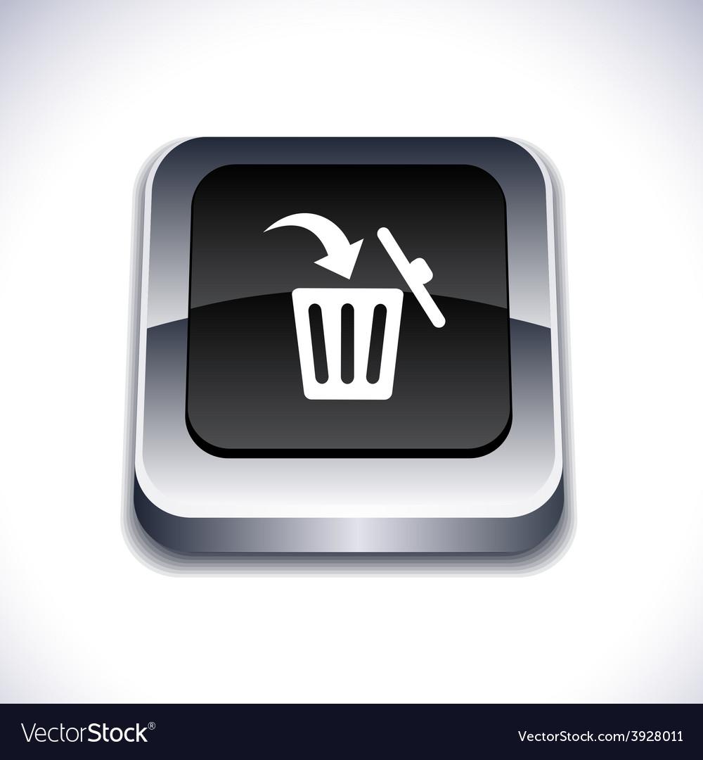 Delete 3d button vector | Price: 1 Credit (USD $1)