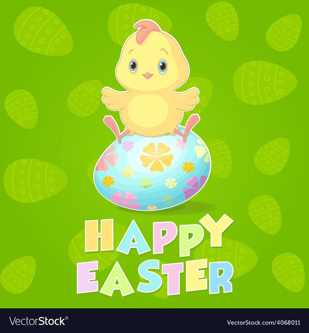 Easter chicken vector | Price: 1 Credit (USD $1)