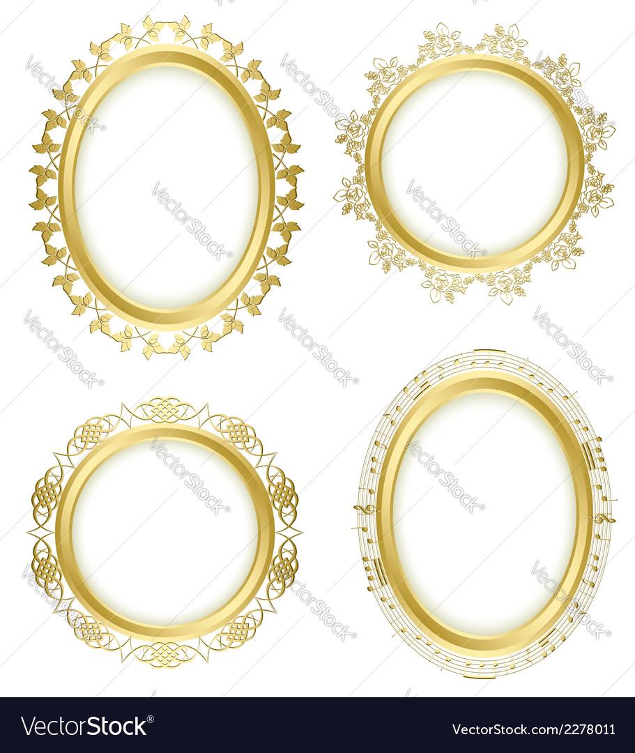 Golden decorative frames - set vector   Price: 1 Credit (USD $1)