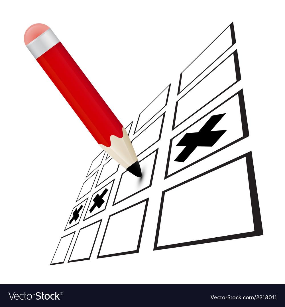 Pencil check option vector   Price: 1 Credit (USD $1)