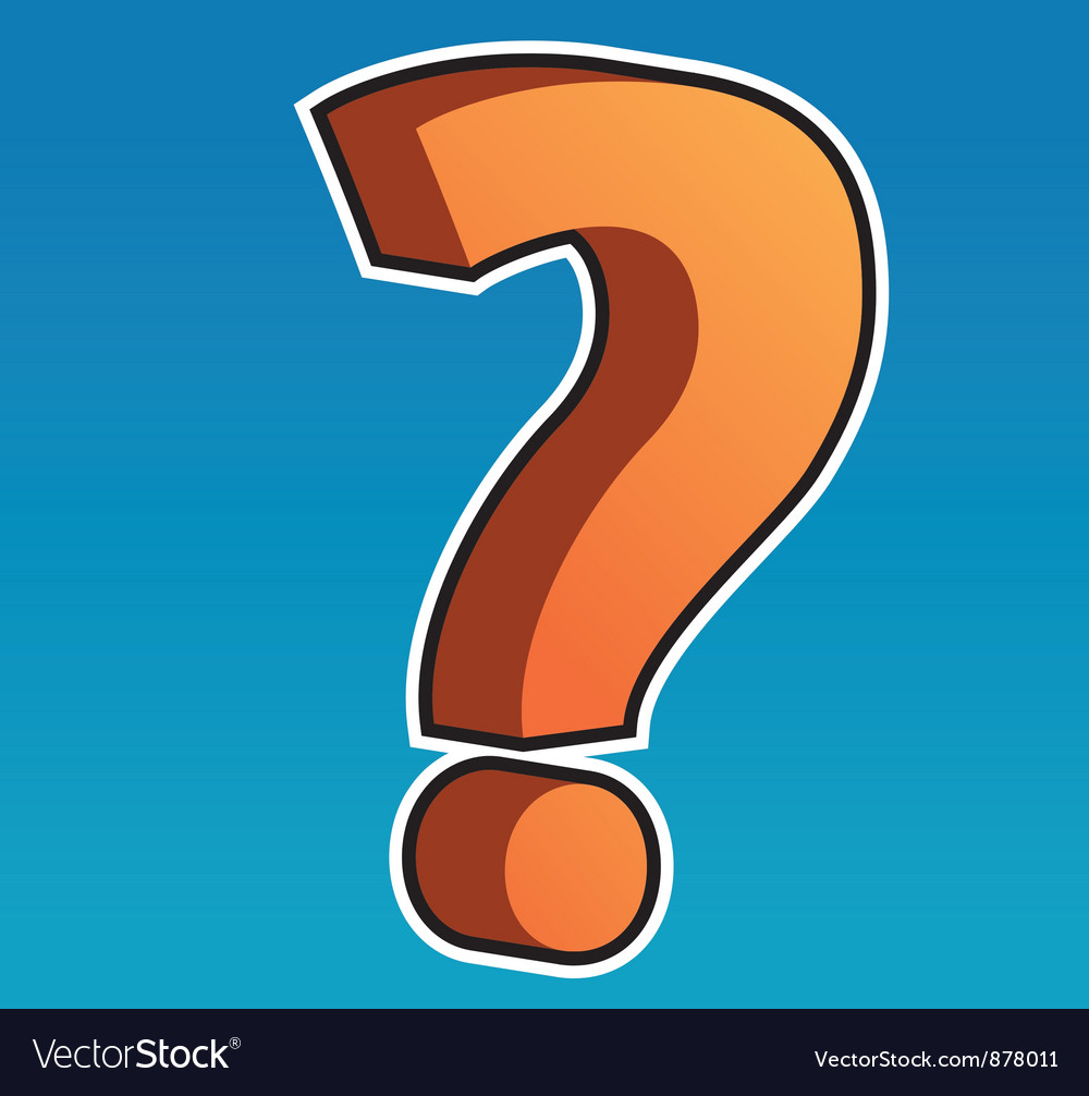 Question mark vector | Price: 1 Credit (USD $1)
