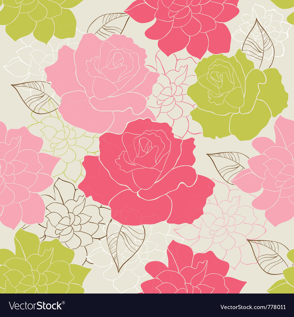Seamless rose vector | Price: 1 Credit (USD $1)