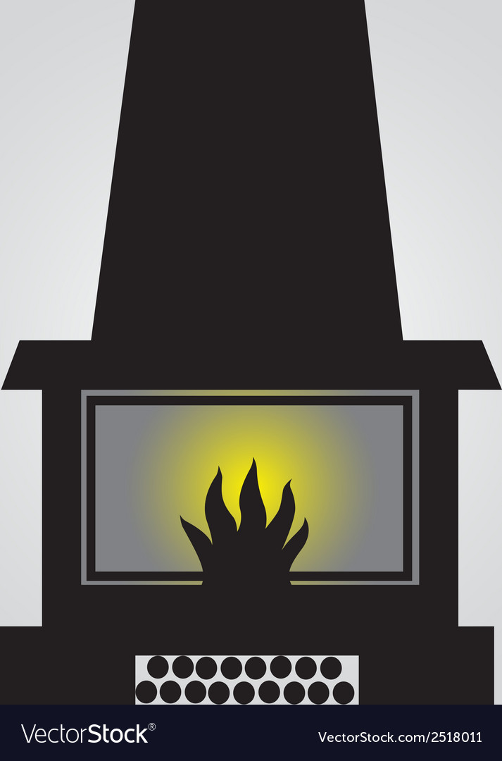 Simple fireplace icon eps10 vector | Price: 1 Credit (USD $1)
