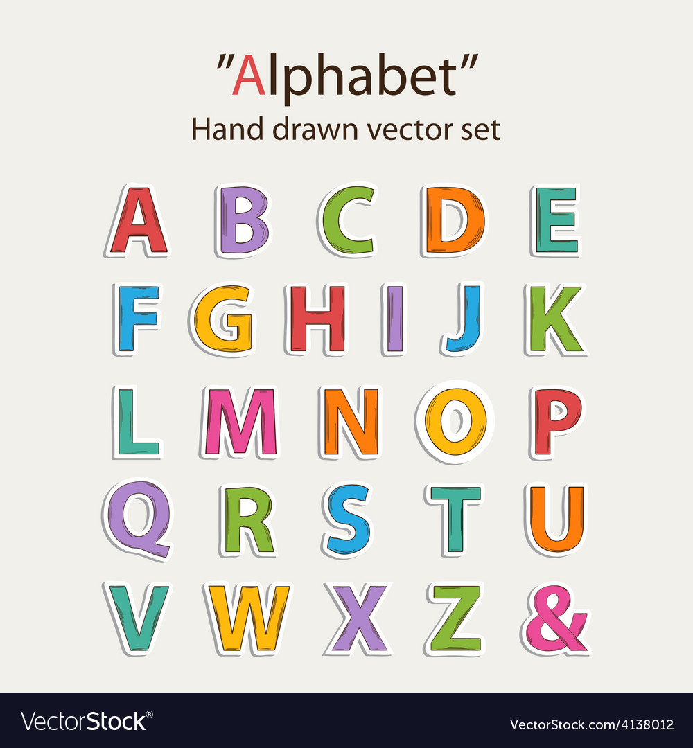 Alphabet sticer set vector   Price: 1 Credit (USD $1)