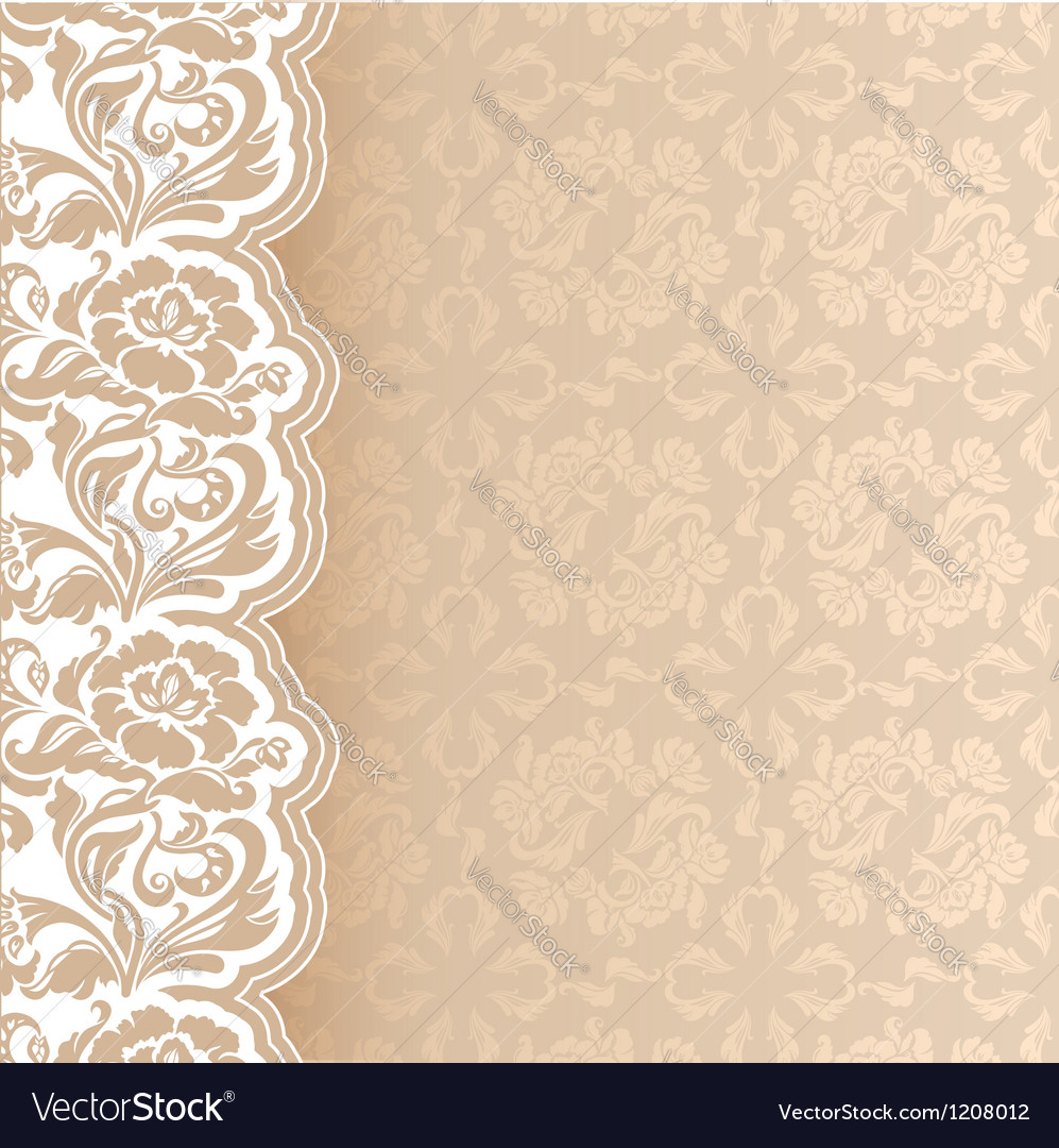 Background with lace square sheet vector | Price: 1 Credit (USD $1)