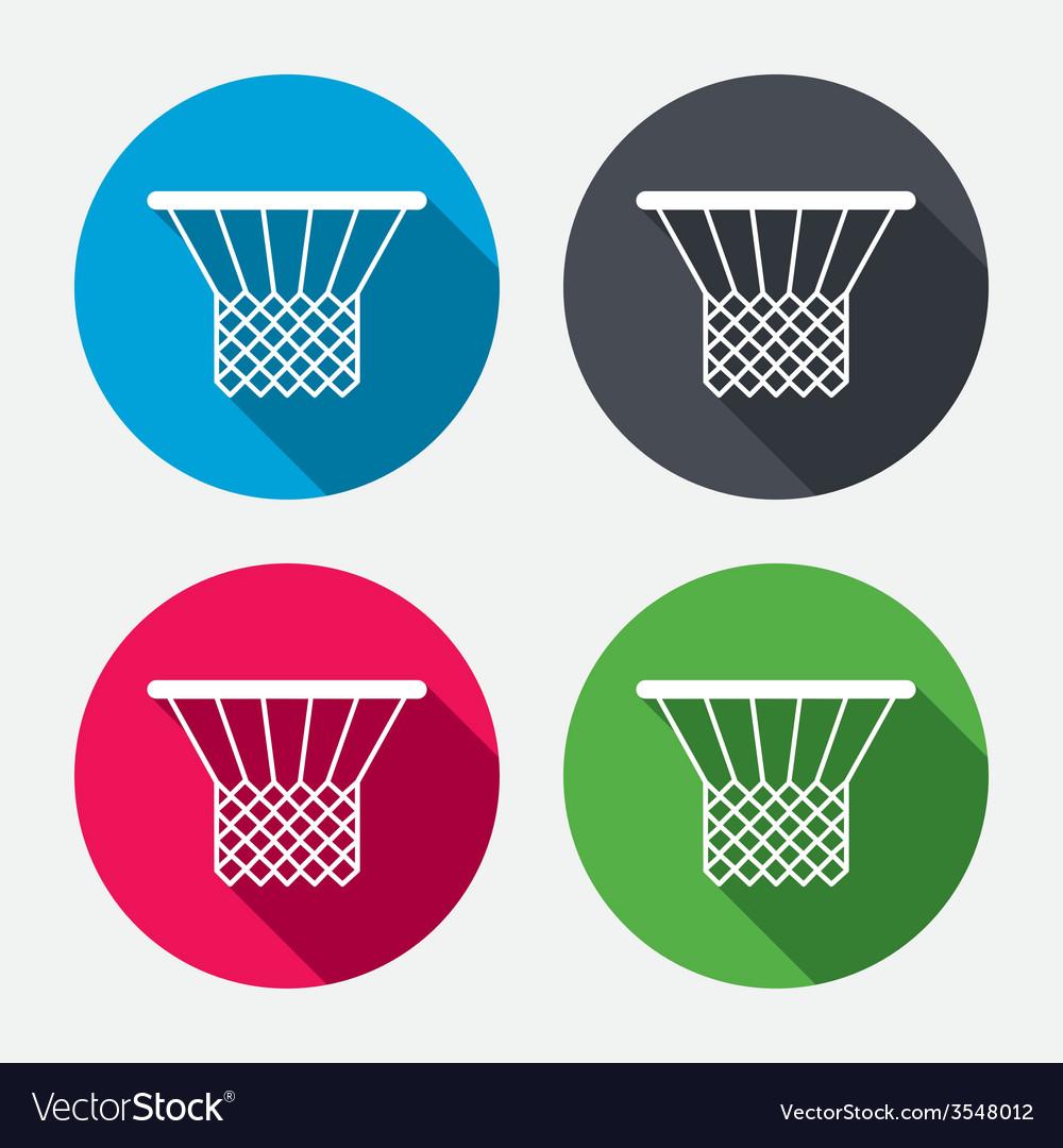 Basketball basket icon sport symbol vector   Price: 1 Credit (USD $1)