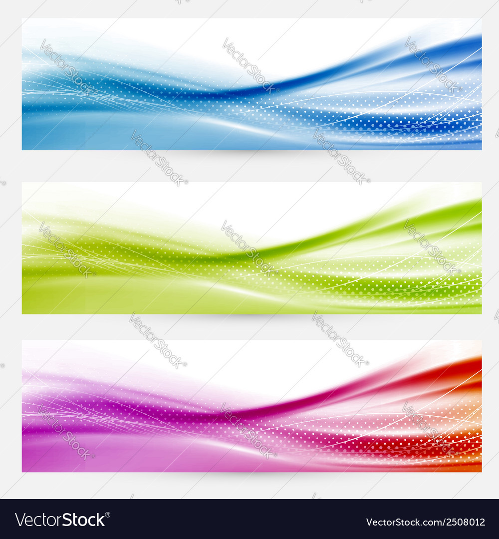Bright swoosh lines headers footers templates vector | Price: 1 Credit (USD $1)