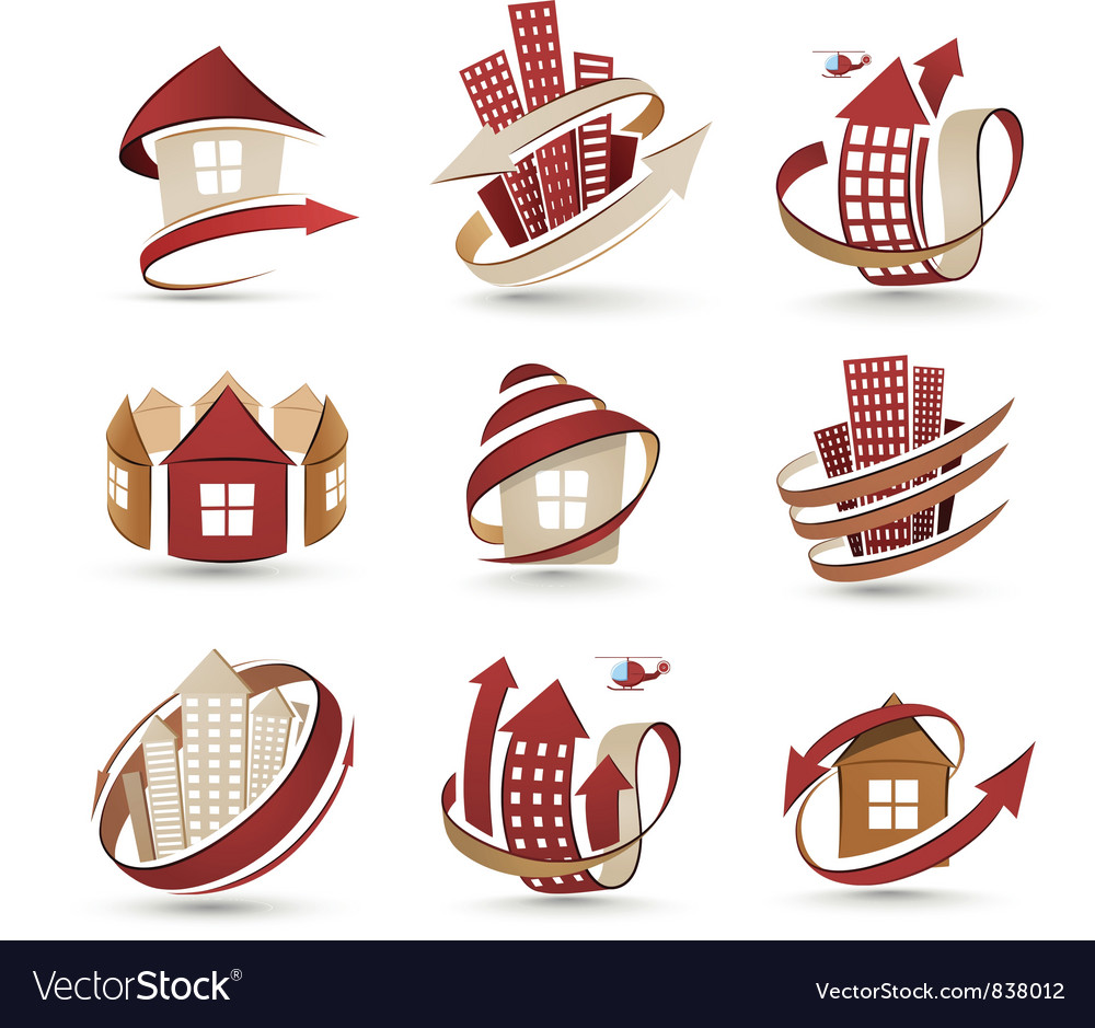 Buildings icons vector | Price: 3 Credit (USD $3)