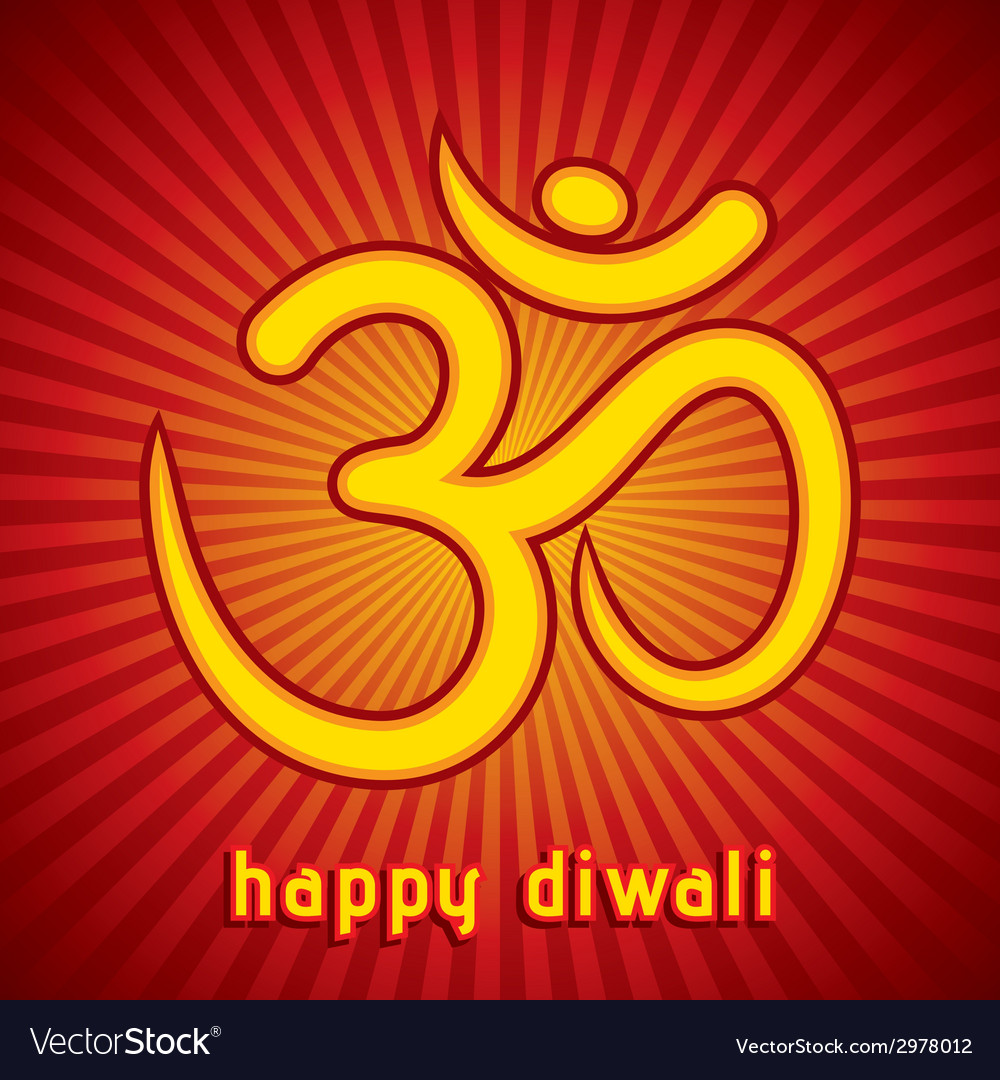 Creative happy diwali greeting card background vector | Price: 1 Credit (USD $1)