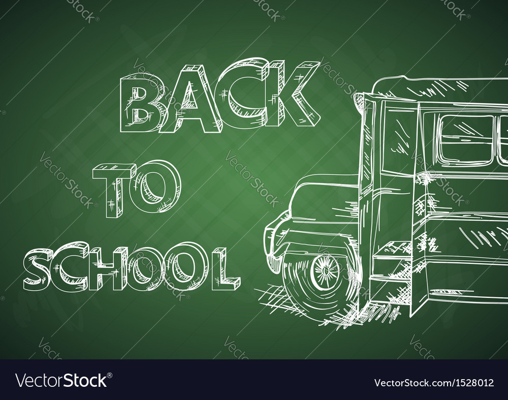 Education back to school bus vector | Price: 1 Credit (USD $1)