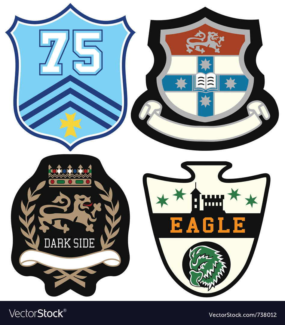 Emblem badge set vector | Price: 1 Credit (USD $1)