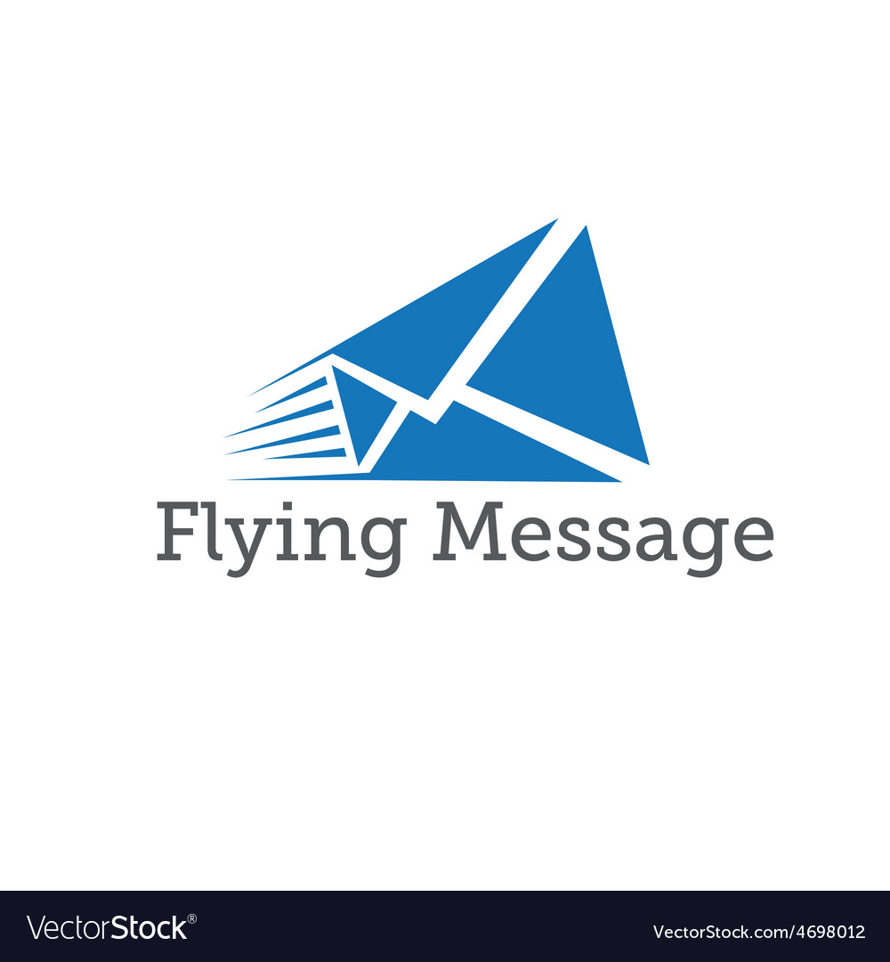 Flying message design template vector | Price: 1 Credit (USD $1)