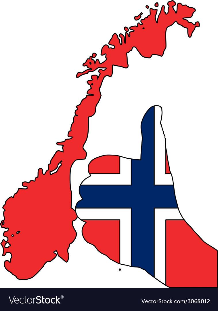 Norwegian hand signal vector | Price: 1 Credit (USD $1)