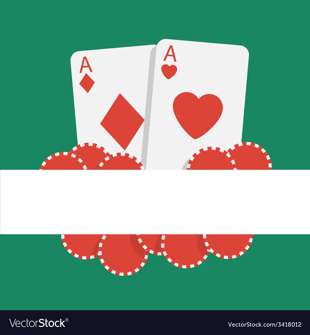 Poker background with playing cards and chips vector | Price: 1 Credit (USD $1)